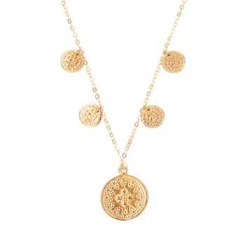 Tess and Tricia Simplicity Cascade Coin Necklace