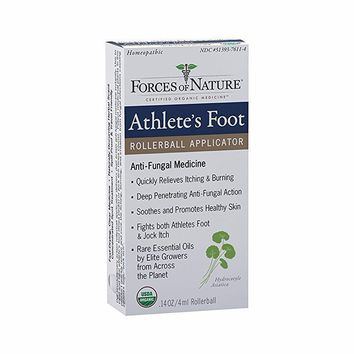 Forces Of Nature Athlete's Foot/Jock Itch Control, Organic, Antifungal, Rollerball - 4 Ml