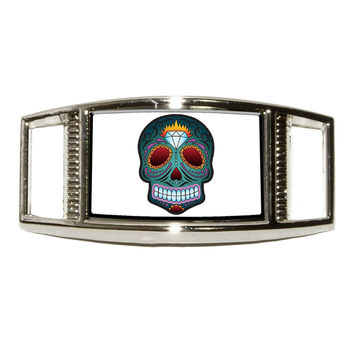 Day of The Dead Skull Mask Shoe Charm