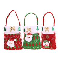 2016 New Year Chrismas Santa Claus Kids candy gift bags Handbag Pouch Wedding Sack Present Bag Christmas Decoration Cute Santa