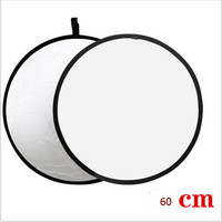 free bag 2-in-1 Light Mulit Collapsible white and Silver Photography Reflector 60cm Photo accessories for flash light