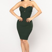 Patrice Tube Dress - Hunter Green