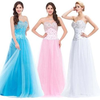 Princess Corset Quinceanera Dresses Ball Gown long Prom Formal Gowns 8 Size US 2-16