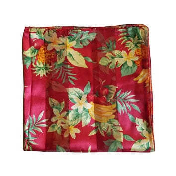 Red Tropical Fruit Retro Chiffon Scarf