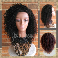 ON SALE // Curly Lace Front Wig, Kinky Curly Afro Wig, African American Wig // GRACE