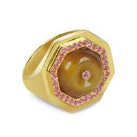 Sho London Designer Rings Tiger's Eye Clementina Ring