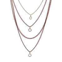 Designsix Eden Multirow Ditsy Necklace