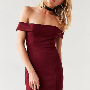 Silence + Noise Structured Off-The-Shoulder Bodycon Mini Dress | Urban Outfitters