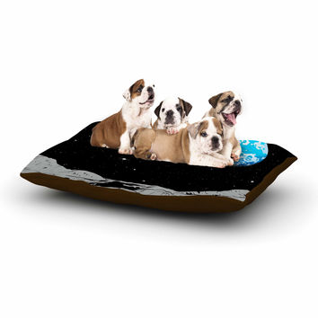 "Digital Carbine ""From The Moon"" Blue Geological Dog Bed"