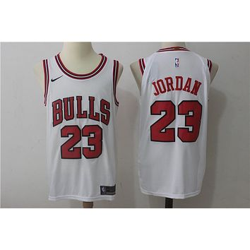 NBA Authentic Basketball Player Jerseys Chicago Bulls # 23 Michael Jordan White