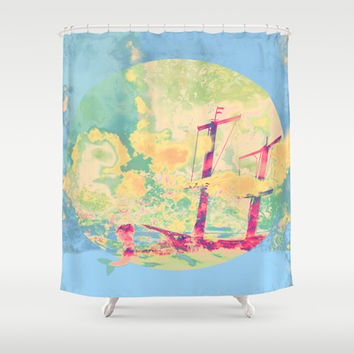 Sail in the Set Shower Curtain by Ben Geiger