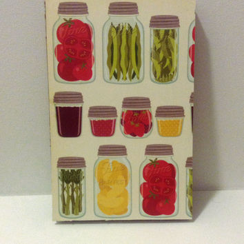 Journal for food lovers, gardening, recipes, dieting 80 page bound blank 51/2 x 81/2