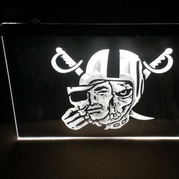 b74 Oakland Raiders mask beer bar pub club 3d signs led neon light sign home decor crafts
