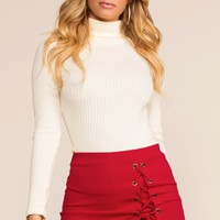 Side Piece Skort - Red