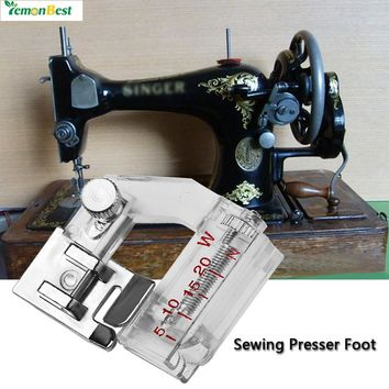 LemonBest Snap-on Bias Binder Presser Foot Binding Feet Sewing Machine Attachment Accessory for All Low Shank Singer Janome Bro