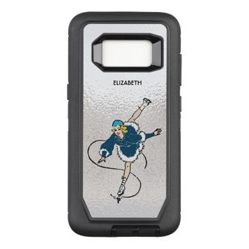 Vintage Retro Figure Skating Girl Old Comics Style OtterBox Defender Samsung Galaxy S8 Case