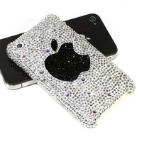 Free Shipping Apple Logo Genuine Swarovski Element Crystals case for iPhone 5 FREE Screen Protector and Gift Box