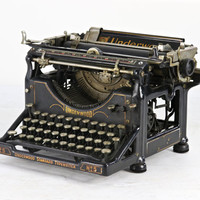 Vintage Typewriter, Underwood No 5 Typewriter, Old Typewriter, Typewriter, Found Typewriter