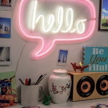 "Hello Bubble 17"" LED Wall Sign"