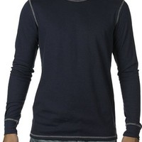 Canvas Long Sleeve Contrast Stitch Lombard Thermal T-Shirt - 3500