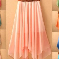 Trendy Bohemia Chiffon Beach Holiday Skirts for Summer