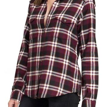 RVCA Plaid Flannel Shirt | Nordstrom