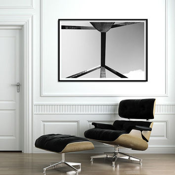 """Large Print up to 40"""", Abstract Urban Print. Black and White photography, Architectural minimalist art"""