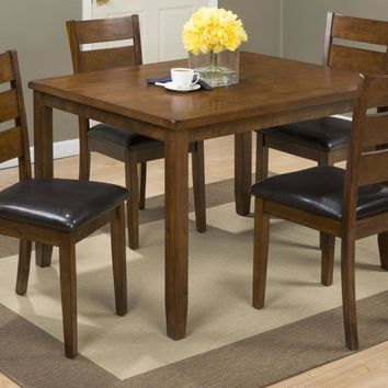 5 Pack Wooden Table and Chair Set, Brown and Black - BM181696