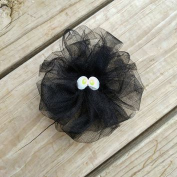 Purple Tulle Halloween Hair Bow