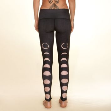 new moon black hot pants