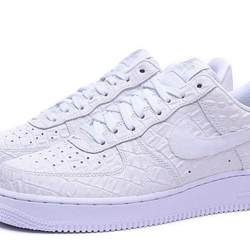 Nike Air Force 1 07 LV8 White For Women Men Running Sport Casual Shoes Sneakers