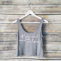 All You Need Is Love Lace Back Tank