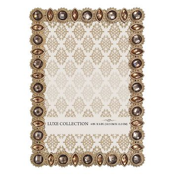 Belle Maison Jeweled 4'' x 6'' Frame (Yellow)