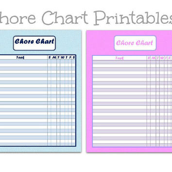 Kid's Chore Chart | chore list | task list | task chart | kid to do list | chore chart | chore charts for children | printable chore chart