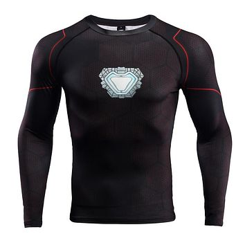Raglan Sleeve Avengers 3 Iron Man 3D Printed T shirts Men Compression Shirts Black Friday Top For Male Cosplay Costume Clothing