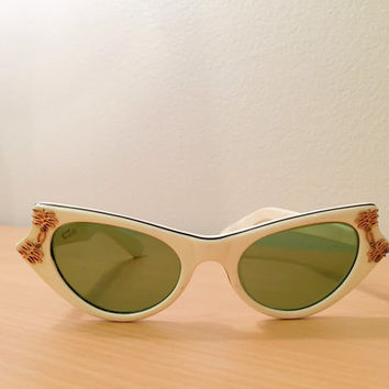 Vintage 1960's American Optical Cateye Calobar CC33 Sunglasses, True Vintage, New Old Stock, Vintage Sunglasses
