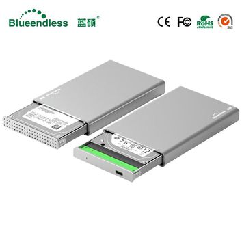"100% New Product Aluminum 2.5"" hdd Cases Type C usb 3.1 To Sata 1TB Portable External Hard Drive for Desktop Laptop blueendless"