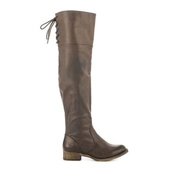 CREYONIG MIA Minute - Taupe Over-the-knee Boot