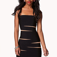 Tiger-Striped Bodycon Dress