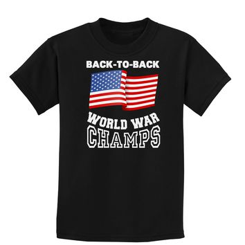Back to Back World War Champs Childrens Dark T-Shirt