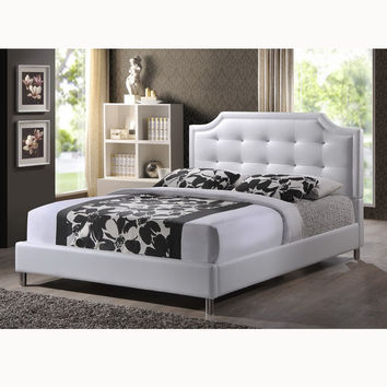 Carlotta Modern Bed with Upholstered Headboard