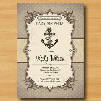 shop nautical baby shower invitations on wanelo, Baby shower