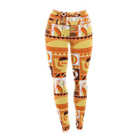 "Tobe Fonseca ""Summer"" Orange Seasonal Yoga Leggings"