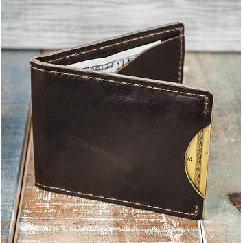3-Slot Front Pocket Card Sleeve Wallet - 21st Amendment (Horween Chromexcel Leather)