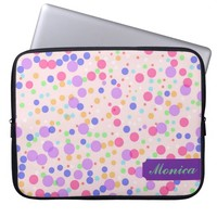 Dots on Pink Laptop Sleeve