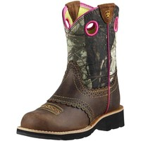 Ariat Youth Fatbaby Cowgirl Boots - Rough Brown - 10008724
