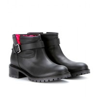 fendi - shearling-lined leather boots