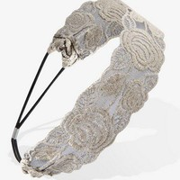 Metallic Lace Headwrap