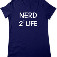 Funny Math Shirt, Nerd 4 Life Funny T Shirt, Geeky Tshirt, Math Geek T Shirt, Math Tshirt, Funny Graphic Tee, Ladies Women Plus Size