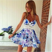 Summer Cute Floral Print Dress